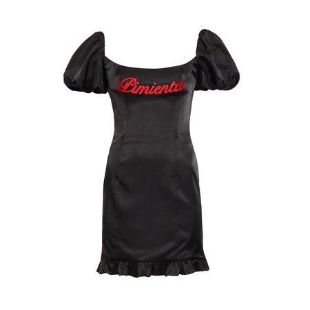 Koko Dress Black Viscose Satin