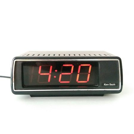 Vintage 1970s ken-tech alarm clock with florescent orange in - Depop