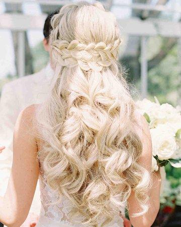 blonde wedding hair