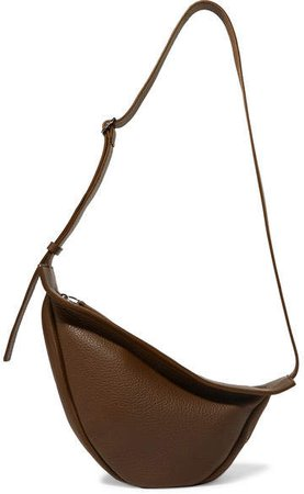 Slouchy Banana Textured-leather Shoulder Bag - Army green