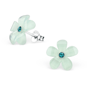 Mint Green Flower Stud - Jewellery-Earrings : Mariposa Clothing - Seriously funky clothing and footwear for men, women and children. - Mariposa