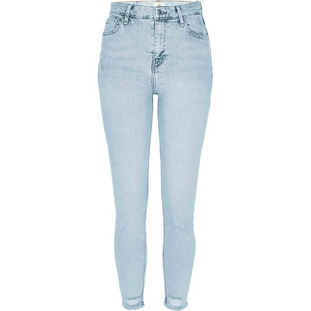 Denim high rise skinny jeans | River Island