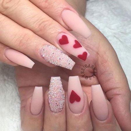 Valentines Day Acrylic Nails