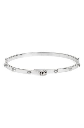 Gucci GG Running Diamond Bangle | Nordstrom