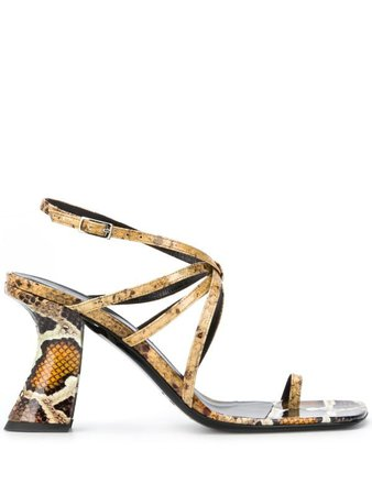 BY FAR snake-print sandals - FARFETCH