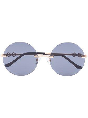 Karen Wazen Luna round-frame Sunglasses - Farfetch