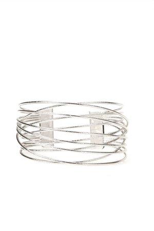 Calling it Quits Cuff Bracelet - Silver