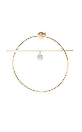 18k Yellow Gold Fibule Diamond Earrings By Persée | Moda Operandi