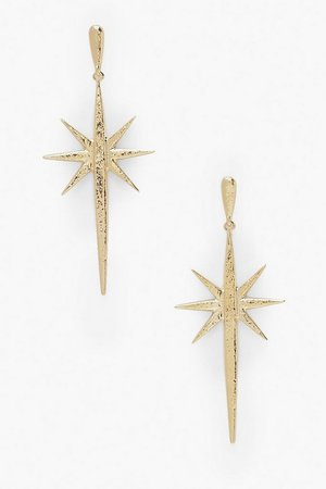 Star Burst Drop Earrings | Boohoo