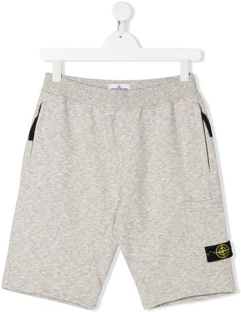 Junior elasticated logo patch shorts