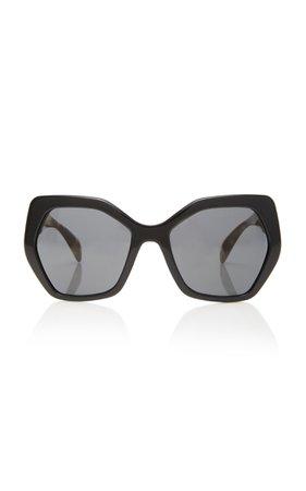 Prada Oversized Cat-Eye Acetate Sunglasses