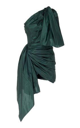 One Shoulder Drape Mini Dress by Oscar de la Renta | Moda Operandi