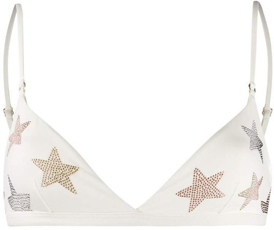 star-embellished bikini top