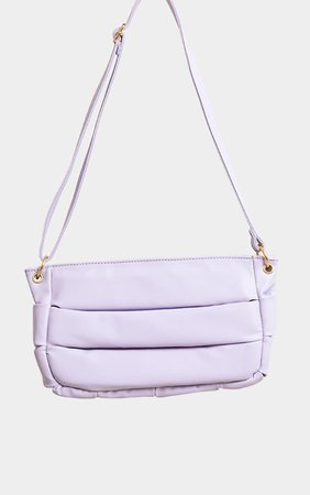 Lilac Padded Shoulder Bag - Bags - Accessories   PrettyLittleThing USA