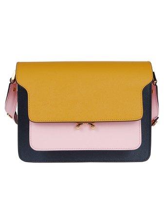 Multicolor Leather Trunk Crossbody Bag