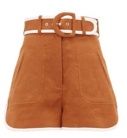 Super Eight high-rise linen shorts - £412