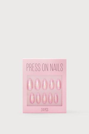 Press-on Nails - Pink