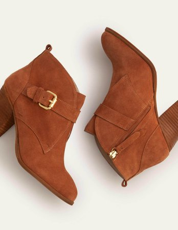 Carlisle Ankle Boots - Tan | Boden US