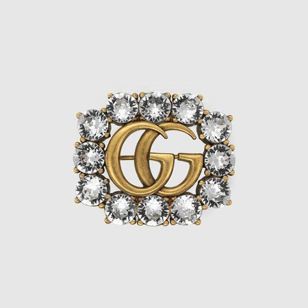 506171_J1D50_8062_001_100_0000_Light-Metal-Double-G-brooch-with-crystals.jpg (800×800)