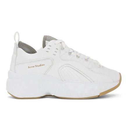 Acne Studios Ssense Exclusive White Manhattan Sneakers In White/white
