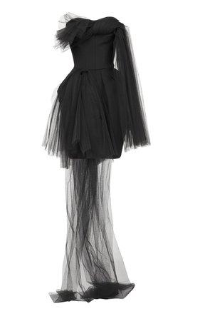 Evermore Asymmetric Tulle Mini Dress by Maticevski | Moda Operandi
