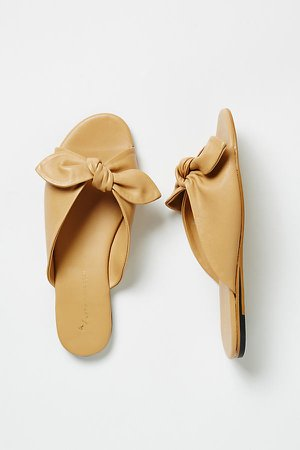Gemma Bow Slide Sandals By in Beige Size 36