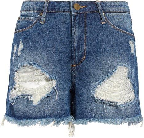 Meredith Distressed Denim Shorts