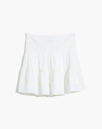 Pintuck Mini Skirt