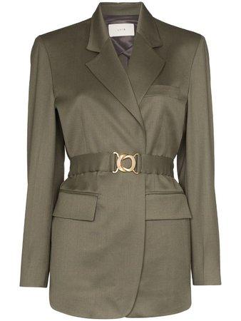 LVIR Belted Wool Blazer - Farfetch