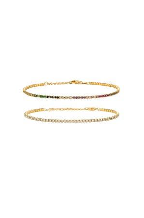 Micro Tennis Bracelet Set