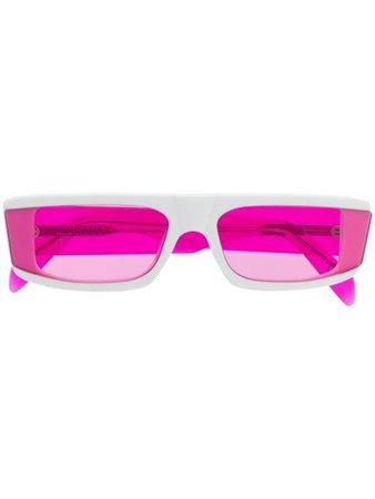 Retrosuperfuture rectangular frame sunglasses white & pink JE6 - Farfetch