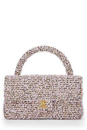 Chanel Lavender Tweed Classic Flap Medium - What Goes Around Comes Around