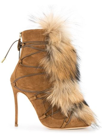 Dsquared2 faux-fur Embellished Boots - Farfetch