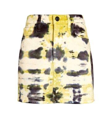 Hudson Jeans Viper Tie-Dye Denim Skirt   INTERMIX®