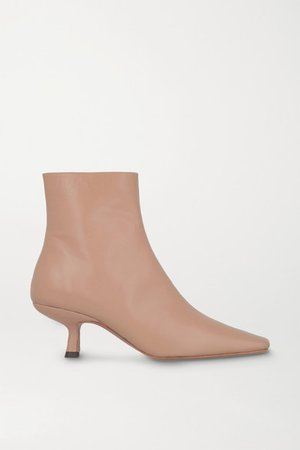 Lange Leather Ankle Boots - Beige