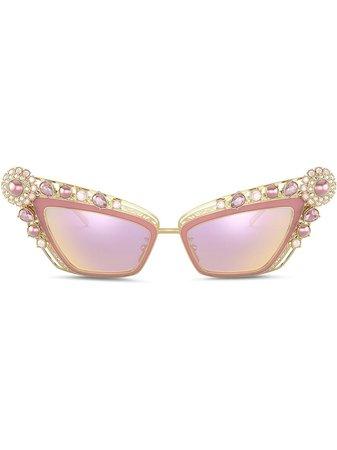 Dolce & Gabbana Eyewear Christmas Cat eye-solglasögon - Farfetch