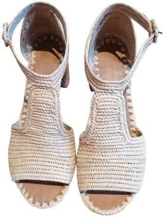 Beige Cloth Sandals