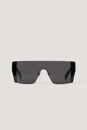 Squared Screen Sunglasses Black | na-kd.com