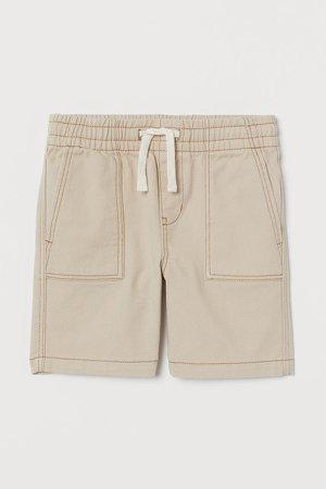 Cotton Shorts - Beige