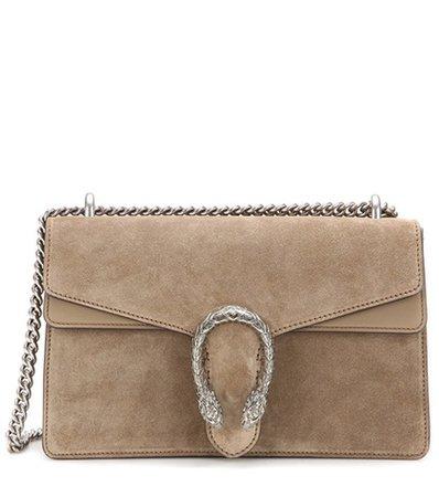 Dionysus Small suede shoulder bag