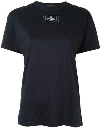 Fendi Pre Owned logo print T-shirt