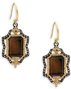 (44) Pinterest - Mother-Of-Pearl, Diamond, Quartz and 18K Yellow Gold Drop Earrings, 18K yellow gold earrings with mother-of | Earrings & Cute Jewelry for Women