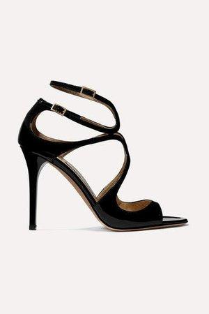 Lang 100 Patent-leather Sandals - Black