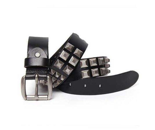Pyramid Studs Leather Belt 109548