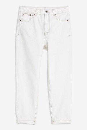 PETITE White Mom Jeans   Topshop