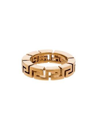 Versace Greca Pattern Ring Ss20 | Farfetch.com