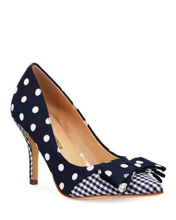 Multi Pattern High-Heel Bow Pumps