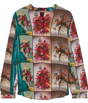 Eva Printed Silk Crepe De Chine Blouse