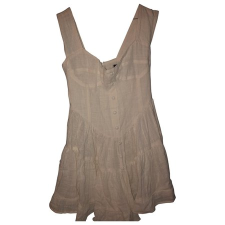 Mini dress Vanessa Mooney White size S International in Cotton - 8063551