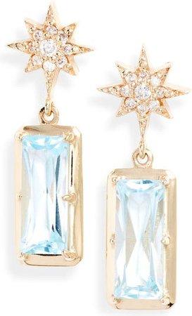 Anzie Starburst Blue Topaz Drop Earrings | Nordstrom